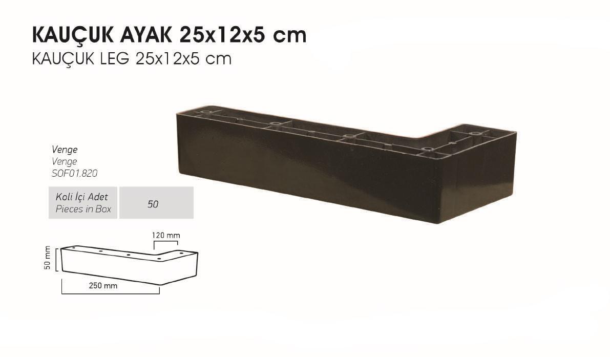 Kauçuk Ayak 25x12x5 cm