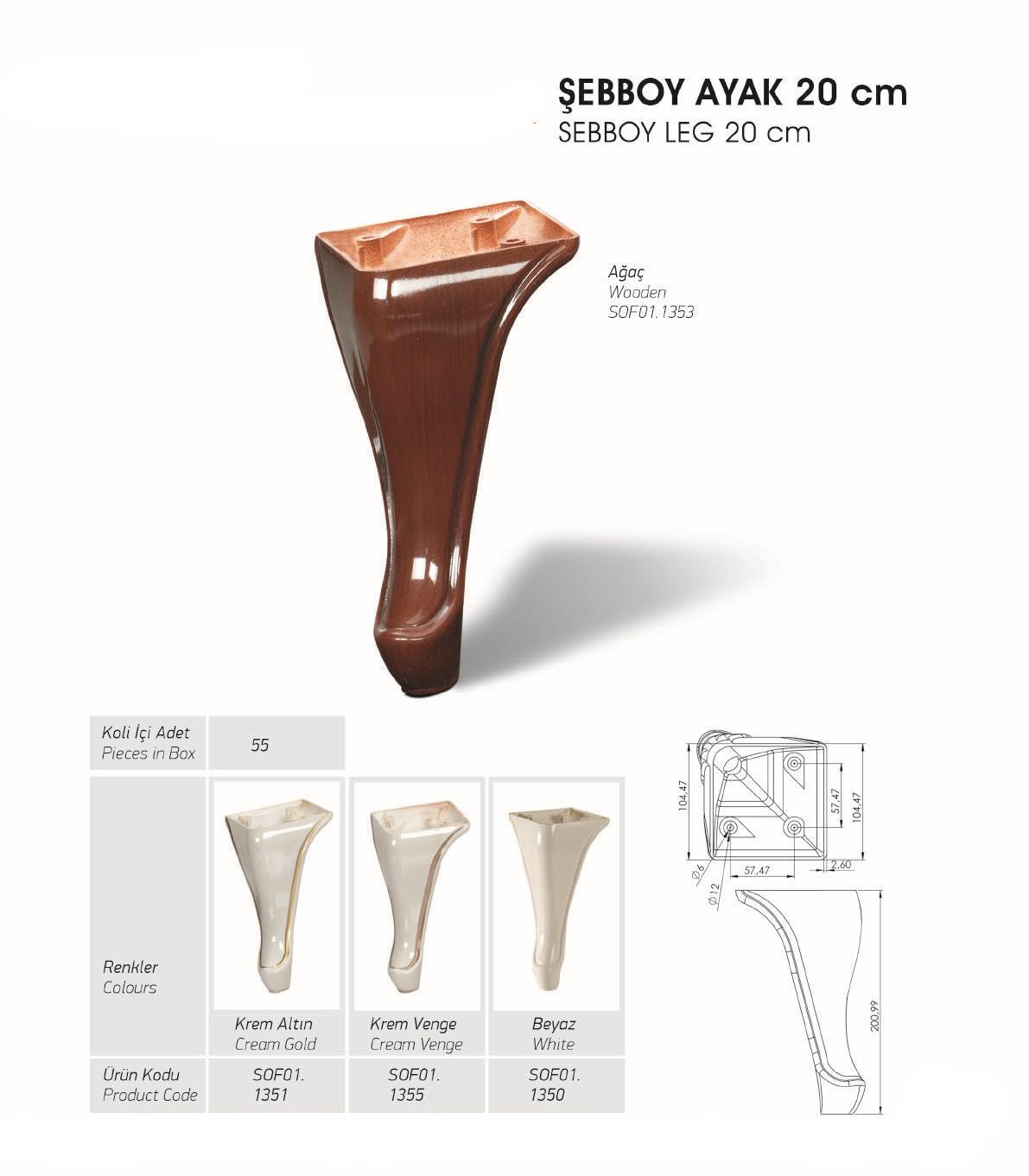 Sebboy Ayak 20 cm